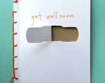 Get Well Soon Bandaid Card