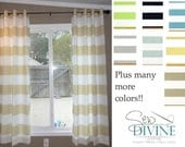 Cabana Horizontal stripe Curtain Panels, two panels