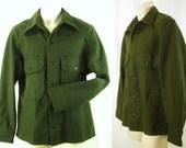 Vintage 1953 Korean War Olive Green Military Wool blend 108 Field Shirt / Jacket  Nw/oT – Never Worn
