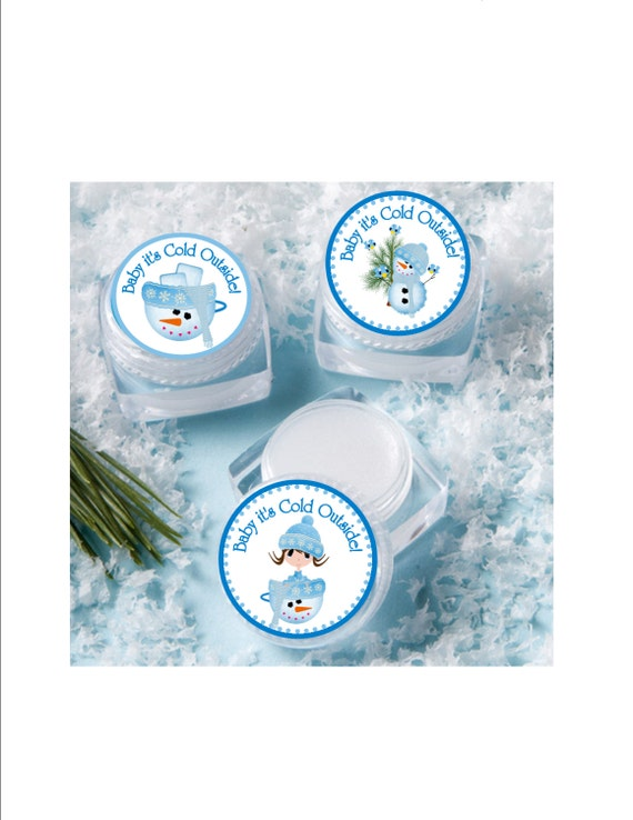 lip balm baby shower favor personalized winter baby shower winter