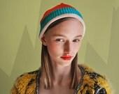 UTHA phat hat ..coral orange...UTHA unisex slouch beanie ... trendy convertible hat