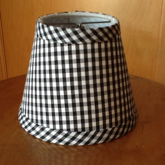 Black and White Damask Lamp shade Bedroom Nursery   Black And White Lamp Shades
