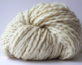 POPO  Super Bulky Wool Yarn Ivory Color