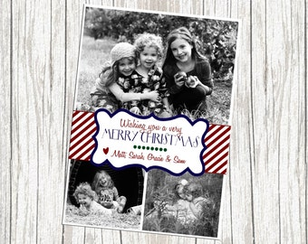 Multiple (Three) Photo Christmas Card