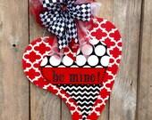FAST SHIPPING Large Valentine Door Hanger Front Door Hanger Valentine Decoration Home Decor Wooden Door Hanger