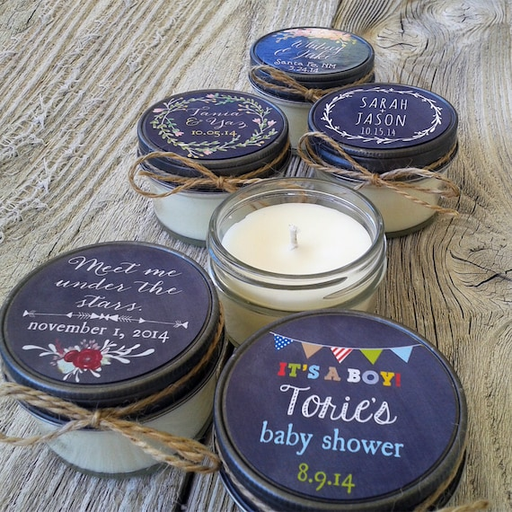 Bridal Shower Favor Sayings For Candles : ... Wedding Favor Candle, Bridal Shower, Baby Shower Favor, Chalkboard