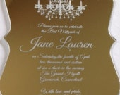 Mirror acrylic engraved invitation