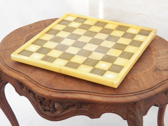 Vintage Marble Chess Board, Checker Board, Board Game, Cutting Board Vintage Game Old marble Home Decor Coffee Table Centerpiece Collectible
