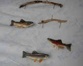 Hand Carved Trout Sculpture Mobile - Fish Art - Carvings