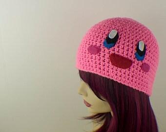 Crochet Kirby Inspired Beanie