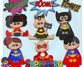 2015 Super Hero Chubbies  Clip art  Clipart Graphics  Commercial Use