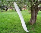 Custom Chapel Length Chiffon Wedding Veil Made to Order 1 Tier Pencil