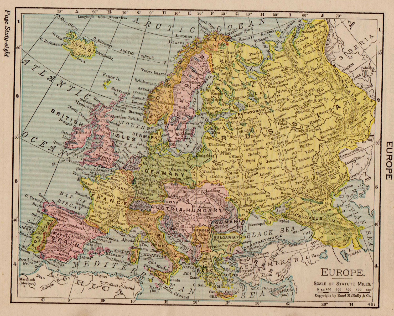 map of europe 1917 antique europe map