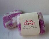 Felted Soap, Handmade Felted Soap - Sweet Roses