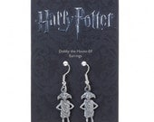 Official Harry Potter Dobby the Elf Earrings in Silver-Plated Metal