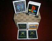 Asst Video Game Coasters Mix and Match a set of 4