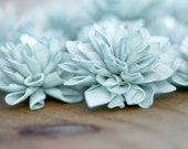 10 3' Hygrangea Blue Wooden Flowers, Rustic Wedding Decorations, Wedding Flowers