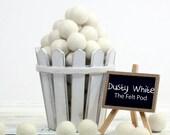 Felt Balls // diy Garland // DIY Mobile // diy Necklace // Poms // Beads // Snow // DUSTY WHITE // 1 cm 1.5 cm 2 cm 2.5 cm 3 cm 4 cm