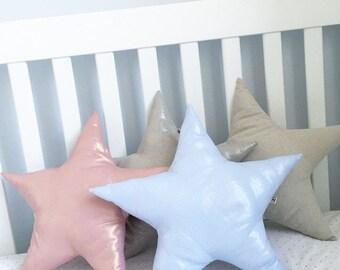 Metallic linen Star Pillow