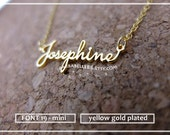 20% off // Font 19 // mini // Personalized Mini Name necklace /any name / including gift box.X'mas - mother - graduation- bridesmaid gift.