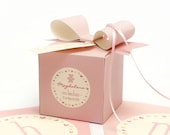 Femenine Bear Favor Box.  DIY Gift Boxes, Baptism, Babyshower, Communion, Birthday or any party. Box Templates