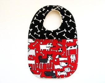 dog bib for baby or toddler organic sherpa