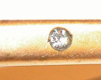 Elegant Edwardian Gold Lapel Pin Victorian Gold Filled Brooch Bar Pin Handsome Unisex Brooch Paste Antique Vintage Lapel Pin