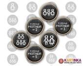 ALL MY SONS - 15mm, 12mm size images Printable Digital Sheets for earrings, bezel settings, rings, cuff links, pendants, bracelets