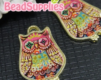 CH-LO-05010A  (New and Exclusive) Cute Ms owl, pink, 2 pcs