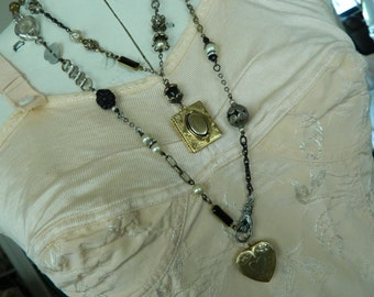 Locket Assemblage Necklace Coupon Code HOLIDAY10 for 10% OFF at checkout