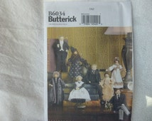 """Butterick 6034: Downton Abbey-inspired 7.5"""" and 9"""" Dolls"""