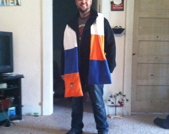 OKC Thunder fleece scarf with embroidered logo and personalization