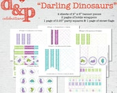 Darling Dinosaurs Instant Download Printable Collection