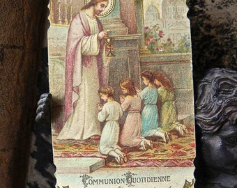 old religious card dated 1936