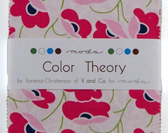 Color Theory Charm Pack designed by V and Co for Moda 1 charm pack