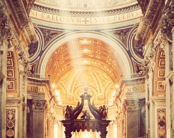 Rome photography, fine art photograph, Italy art, St. Peter's Basilica, Vatican, home decor - Majesty