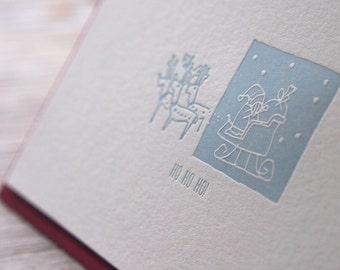 HO HO HO - Letterpress Christmas Card
