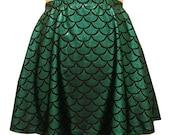 Green Mermaid Skater Skirt