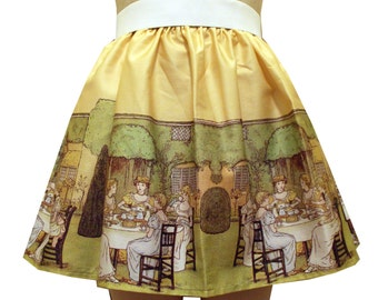 Tea Party Border Full Skirt