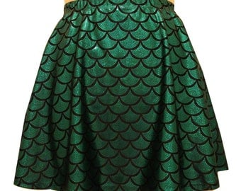 Green Mermaid Skater Skirt