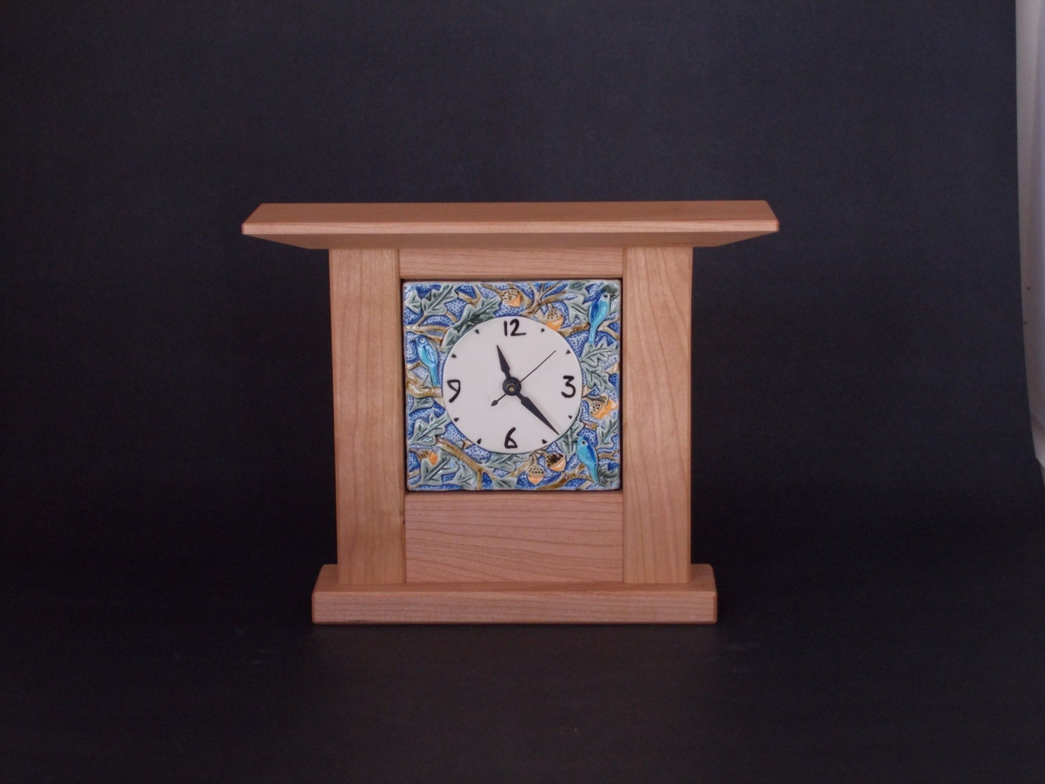 Arts and Crafts Mission Style Oak and Bird Tile in by ... - photo#12