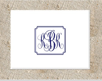 Classic Script Monogram Stationery - 25 notes & envelopes