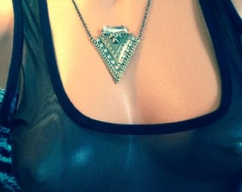 Glam Tribal Triangle Necklace