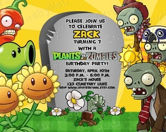 Plants vs. Zombies Invitation