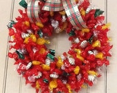 HOLIDAY ..Edible Candy Wreaths.. They are back... Pull Apart Candies... Holiday... Birthday... Office Party...Open House... Christmas Party