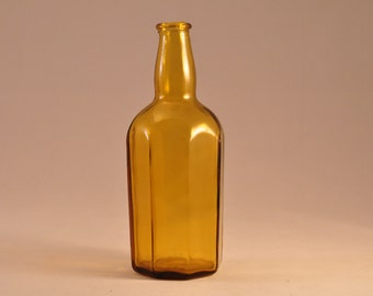 Vintage Glass Bottle Bud Vase