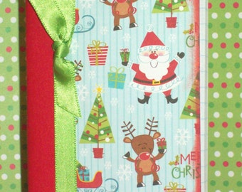 Santa Mini Composition Book