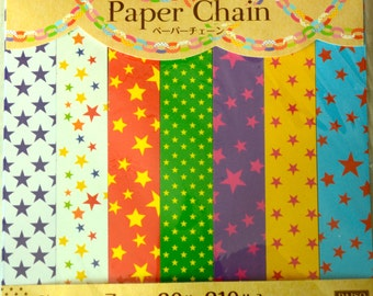 A Set of 210 Strips  of Origami Paper, Lucky Star Folding Strips,, or Garland Paper Chain: Star