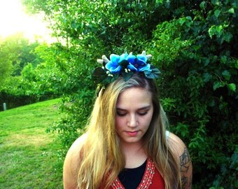 Fawn deer antler flower crown ready to ship