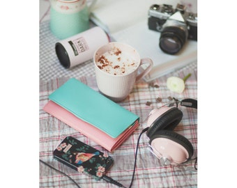 Pink Postcard, Lifestyle Photograph, Pastel, Dreamy Fine Art Print, Coffee, Latte, Camera, iphone, Music Photography
